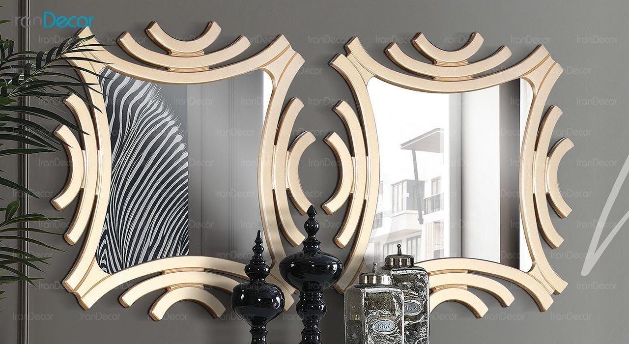تصویر میز کنسول و آینه ماد مدل هانا