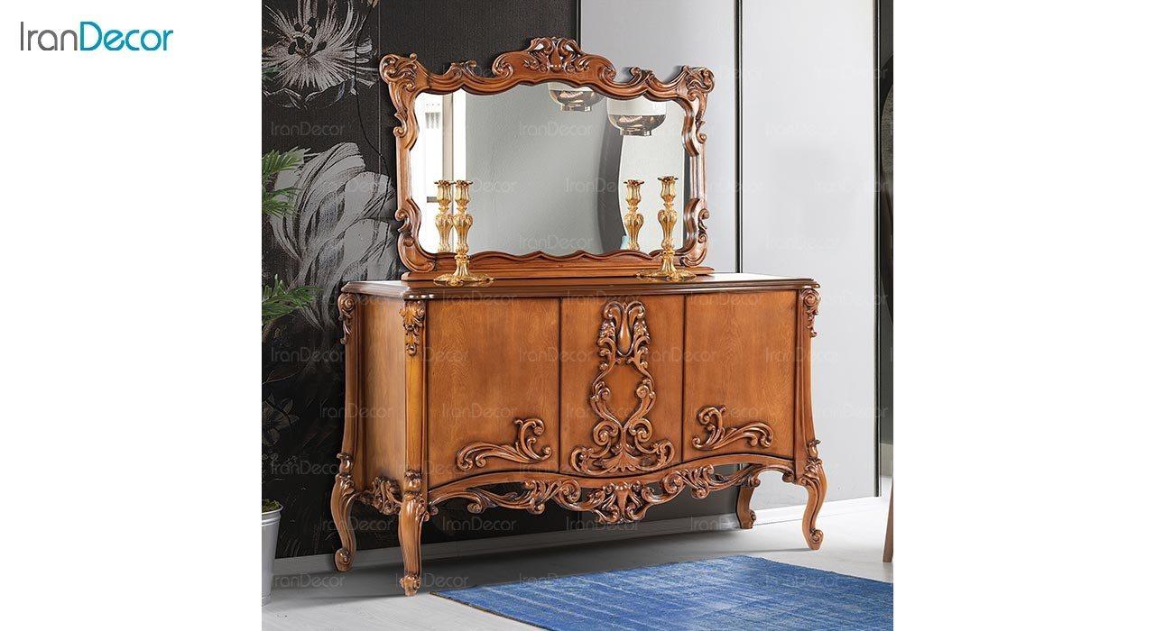 تصویر میز کنسول و آینه ماد مدل لیانا