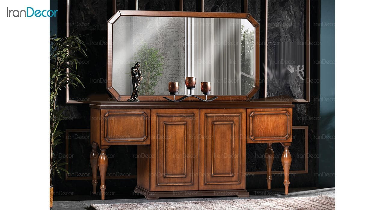 تصویر میز کنسول و آینه ماد مدل فلورا
