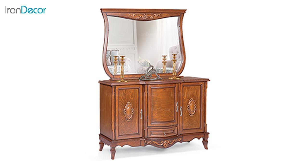 تصویر میز کنسول و آینه ماد مدل پارمیس