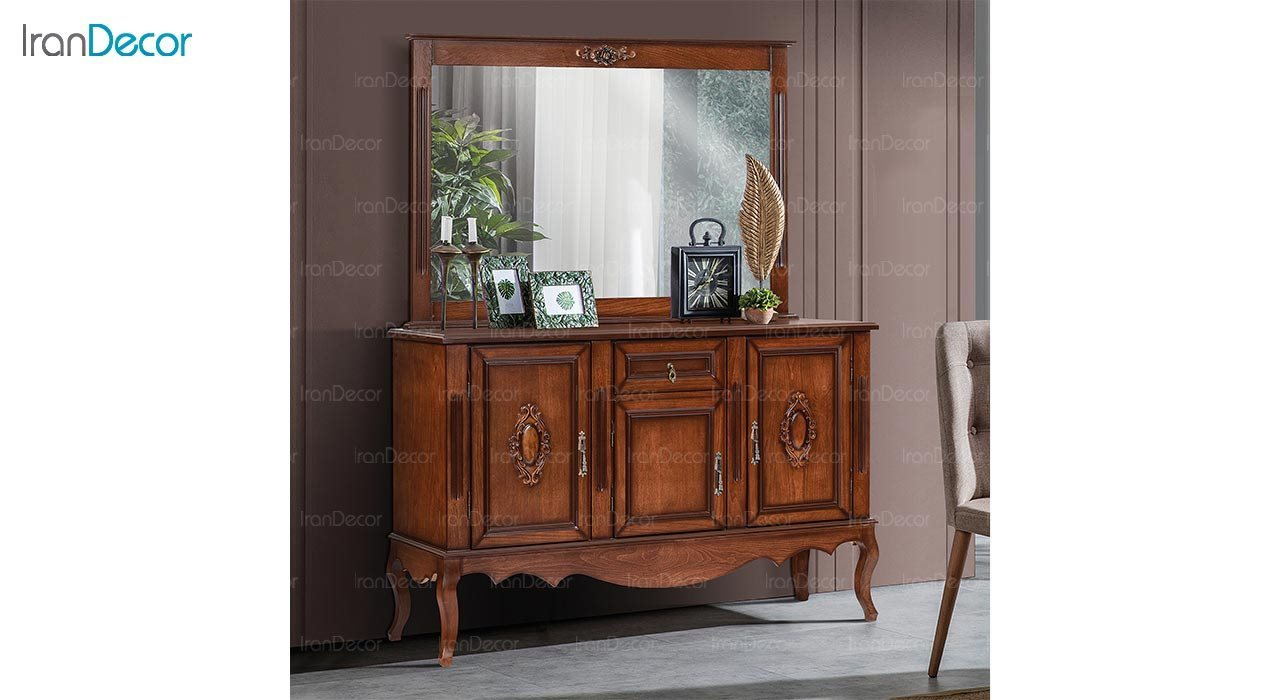 تصویر میز کنسول و آینه ماد مدل النا