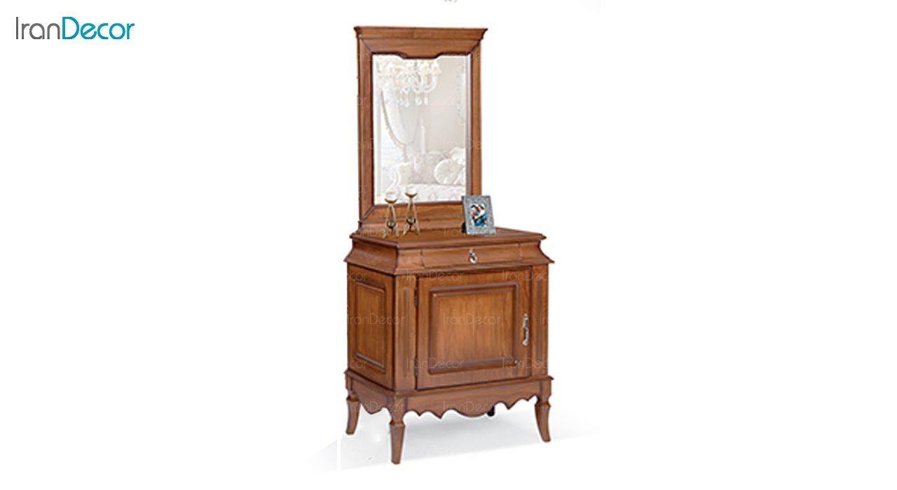 تصویر میز کنسول و آینه ماد مدل آدرین تک درب