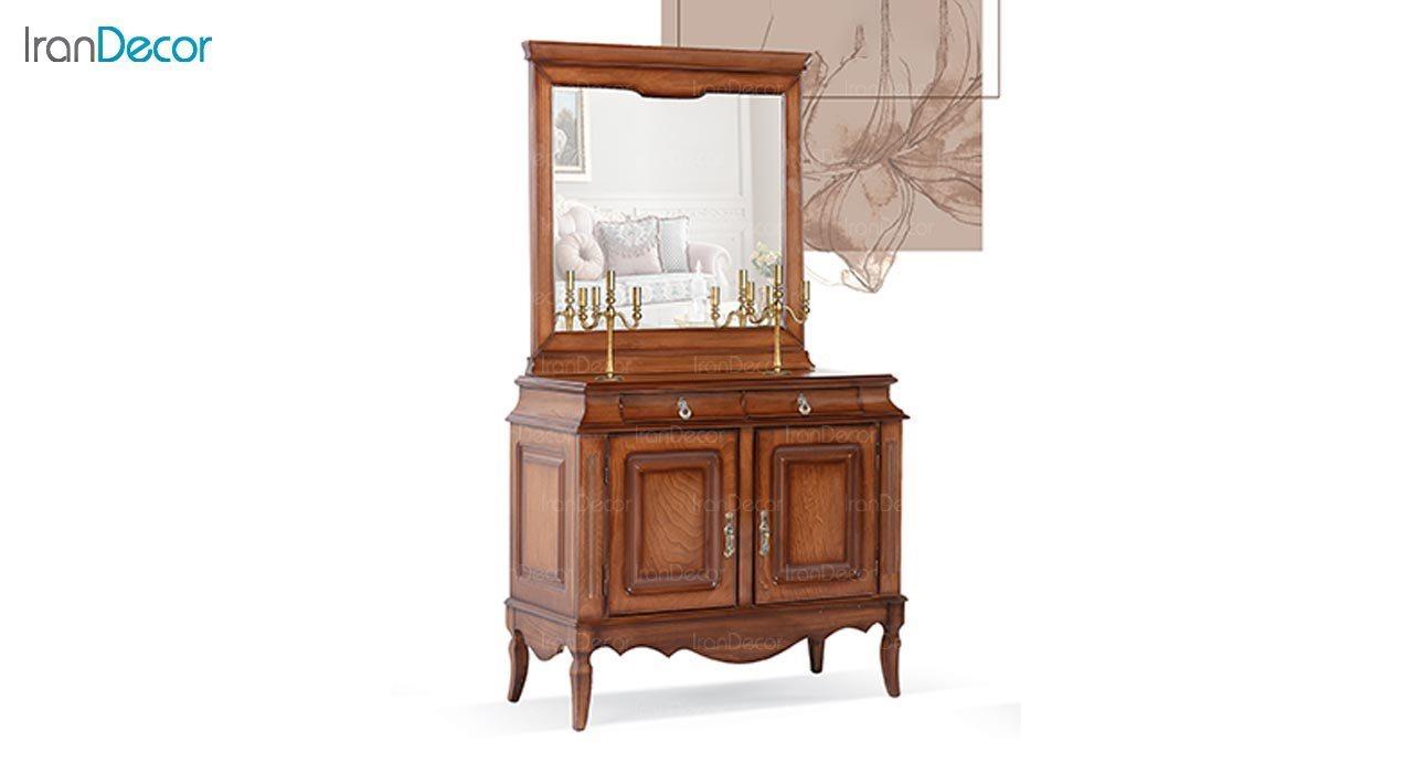 تصویر میز کنسول و آینه ماد مدل آدرین دو درب