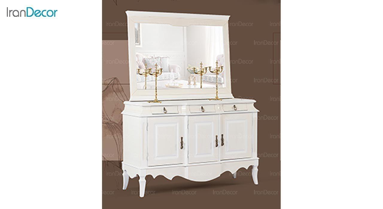 تصویر میز کنسول و آینه ماد مدل آدرین سه درب