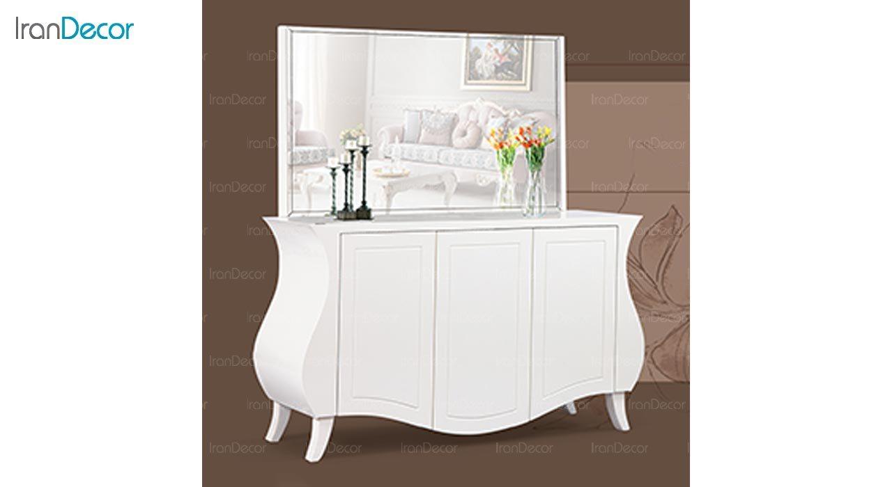تصویر میز کنسول و آینه ماد مدل اسپینا سه درب