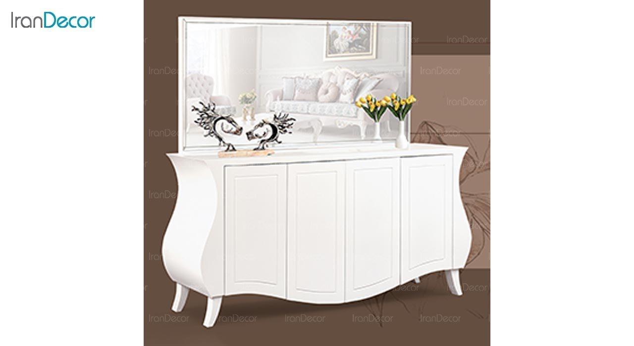 عکس میز کنسول و آینه ماد مدل اسپینا چهار درب