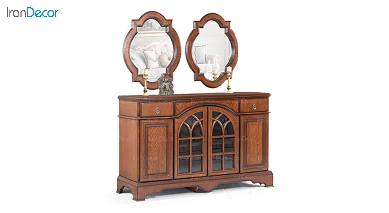 تصویر میز کنسول و آینه ماد مدل شایلی