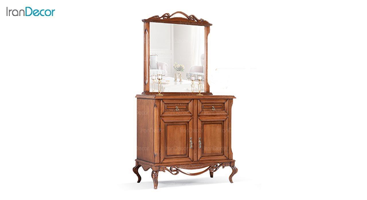 تصویر میز کنسول و آینه ماد مدل رایکا دو درب