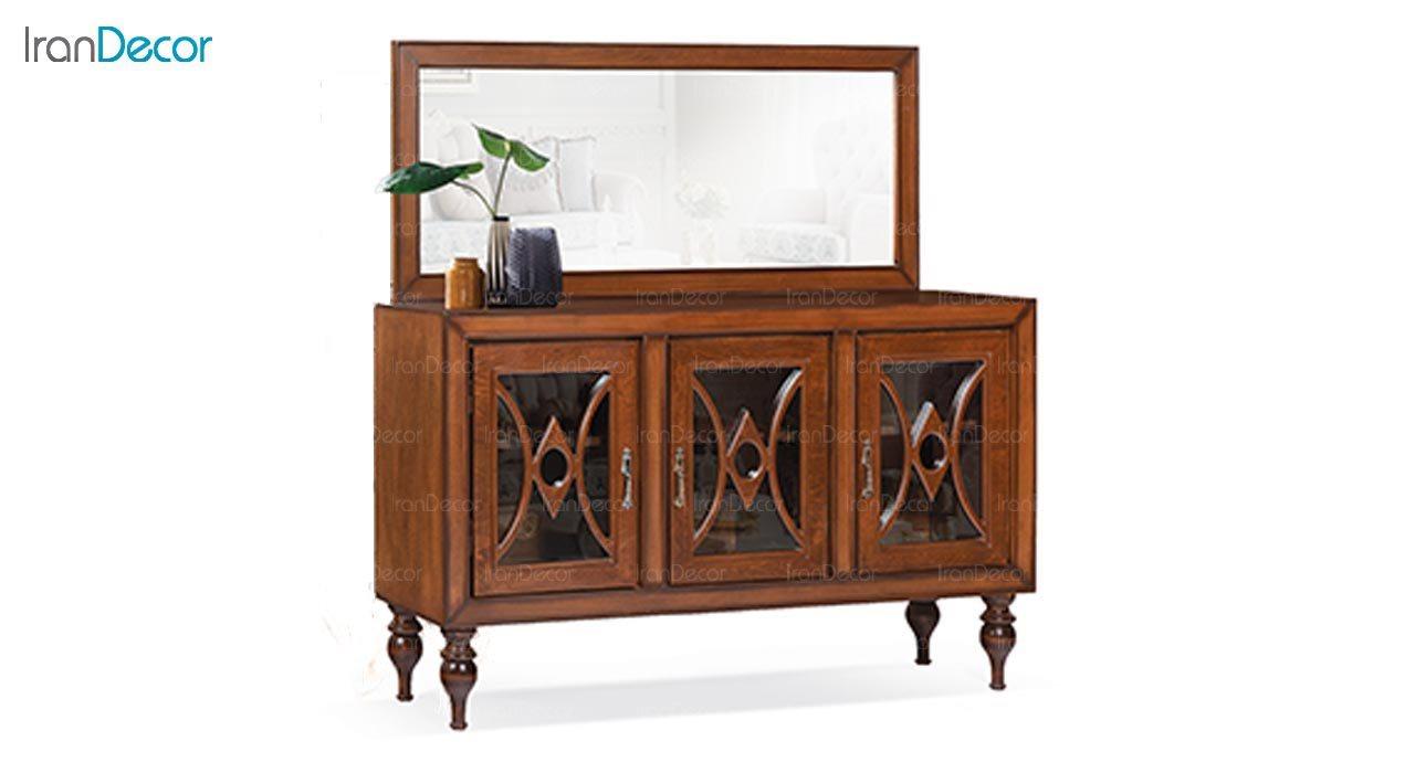 تصویر میز کنسول و آینه ماد مدل دلوین