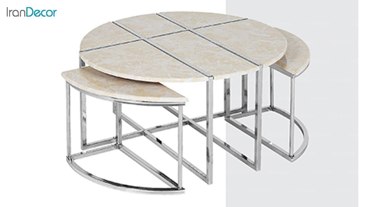 عکس ست میز جلو مبلی طرح سنگ ماد مدل ویانا
