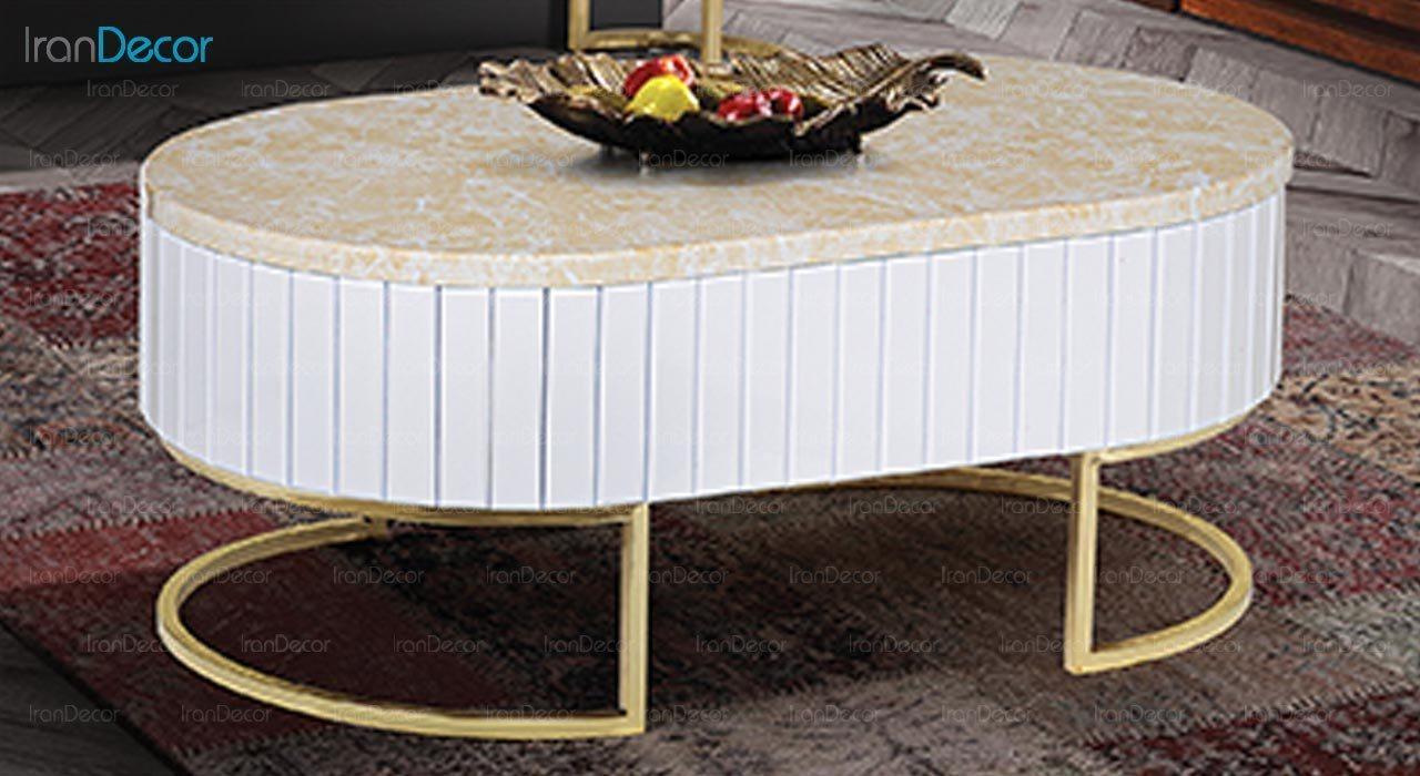 تصویر میز جلو مبلی طرح سنگ ماد مدل آنیل