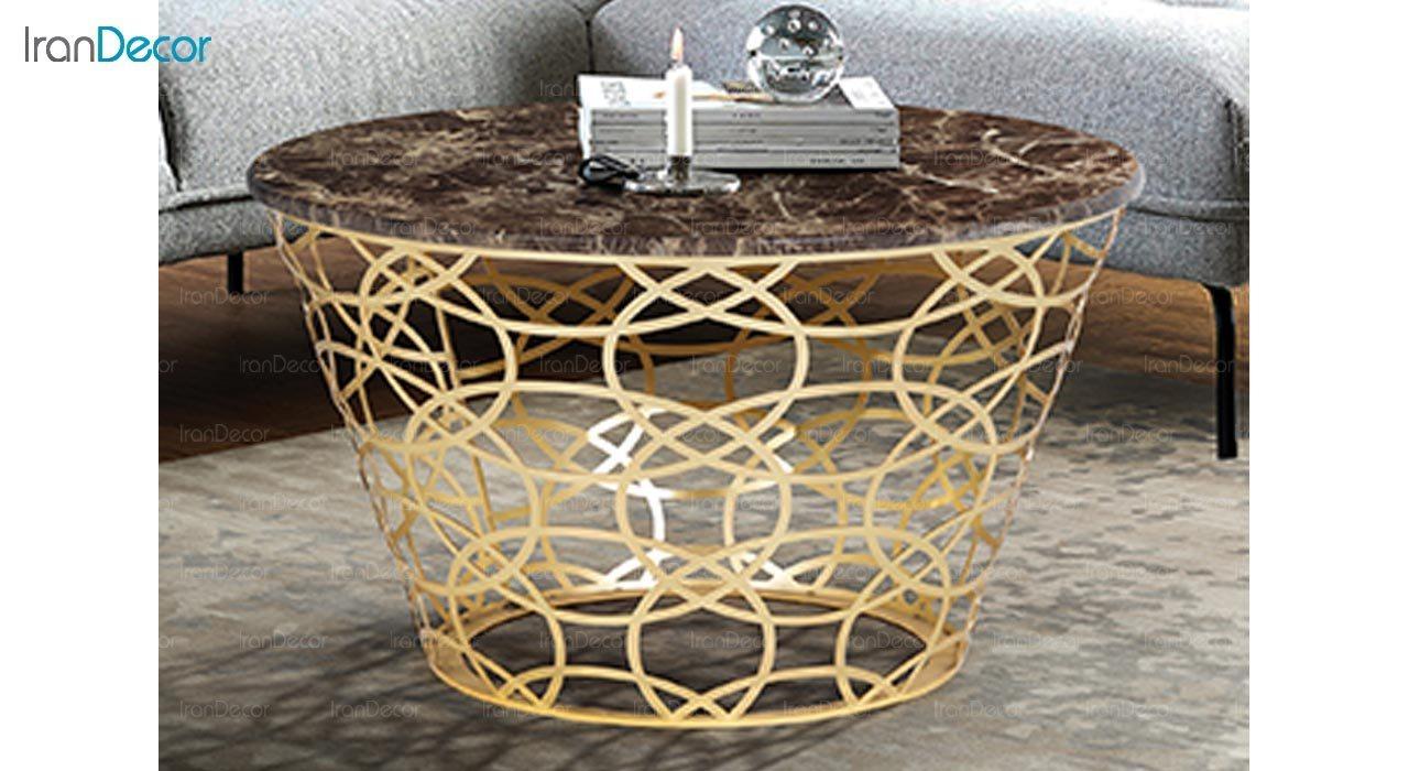 تصویر میز جلو مبلی طرح سنگ ماد مدل باسیل