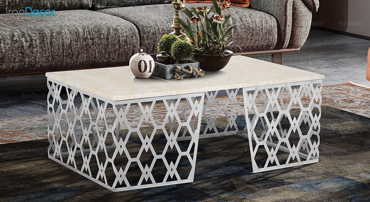 تصویر میز جلو مبلی طرح سنگ ماد مدل سلنا