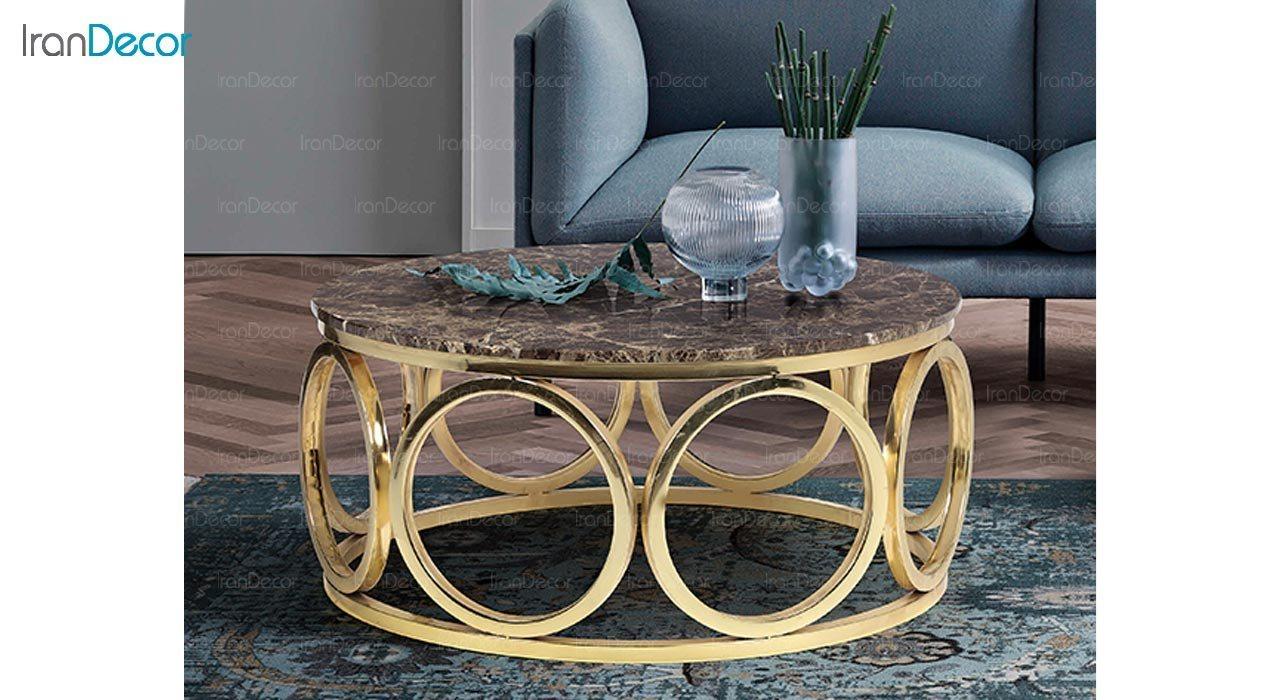 تصویر میز جلو مبلی طرح سنگ ماد مدل ماریا