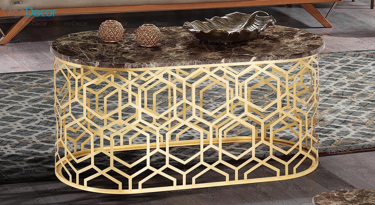 تصویر میز جلو مبلی طرح سنگ ماد مدل ریتا