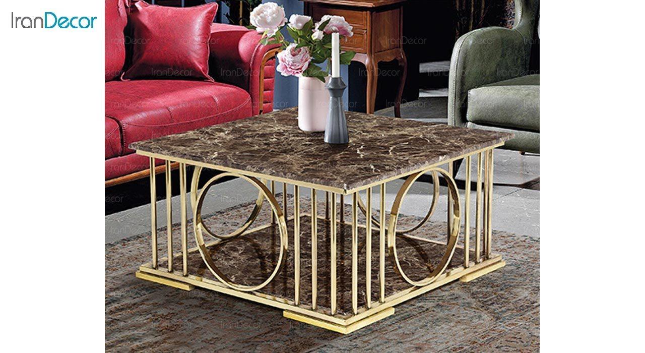 تصویر میز جلو مبلی طرح سنگ ماد مدل ویولت
