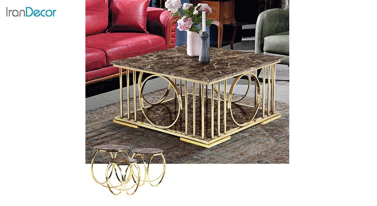 عکس میز جلو مبلی طرح سنگ ماد مدل ویولت