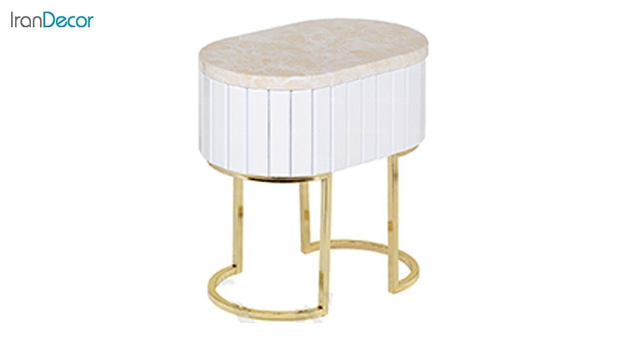 تصویر ست کامل میز اتاق نشیمن طرح سنگ ماد مدل آنیل