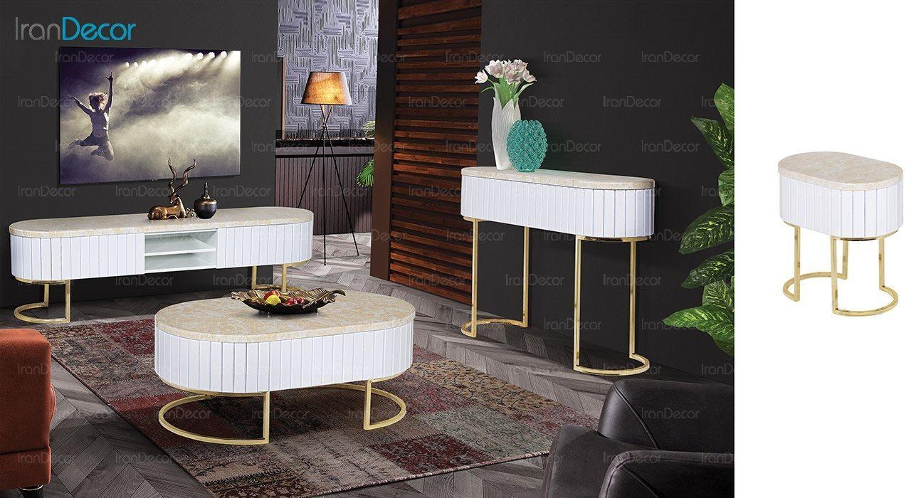 عکس میز عسلی طرح سنگ ماد مدل آنیل