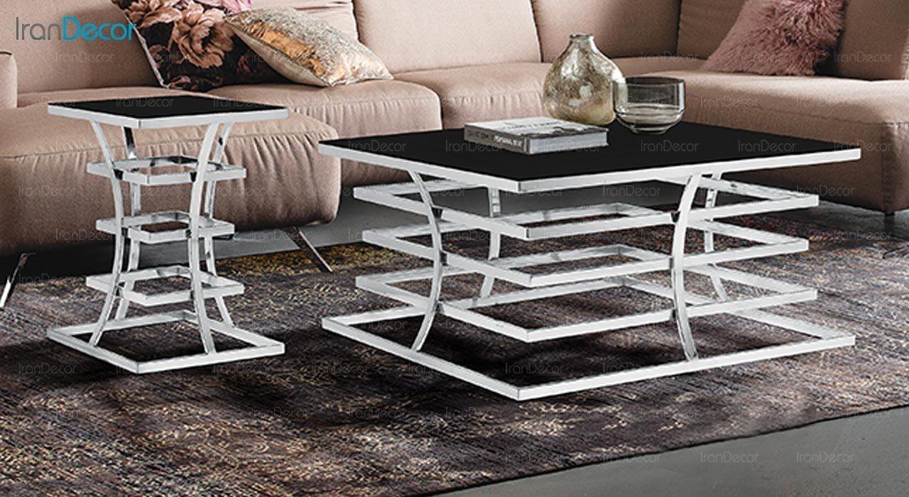 عکس میز عسلی طرح سنگ ماد مدل داکو
