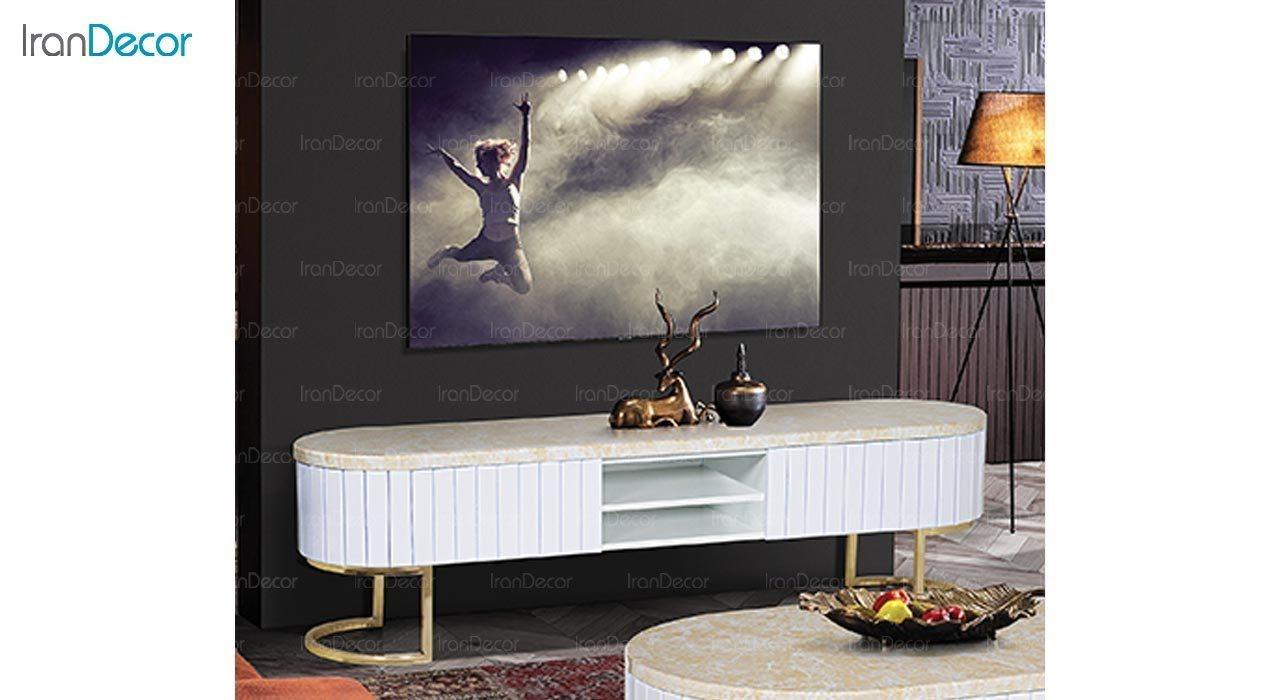 تصویر میز تلویزیون طرح سنگ ماد مدل آنیل