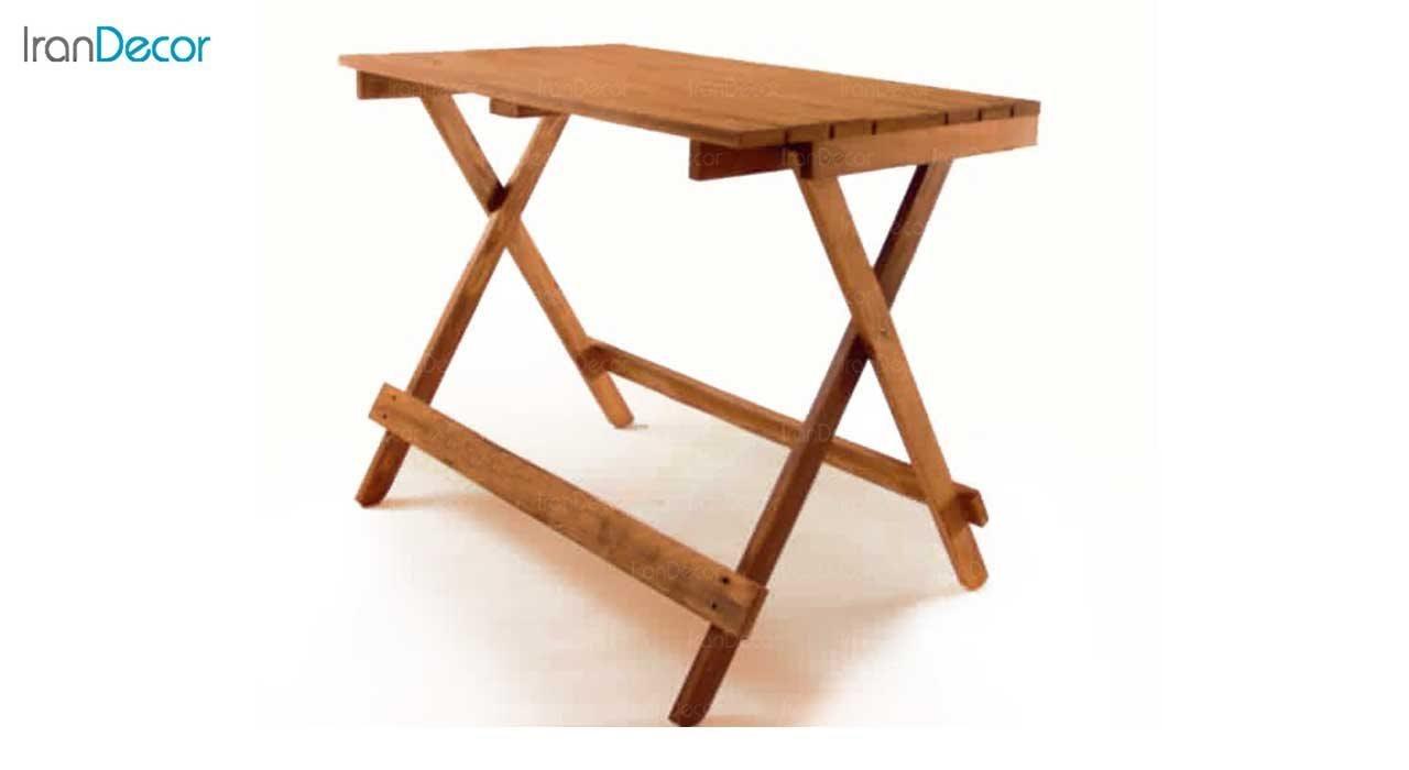 تصویر میز تاشو چوبی مدل مزرعه