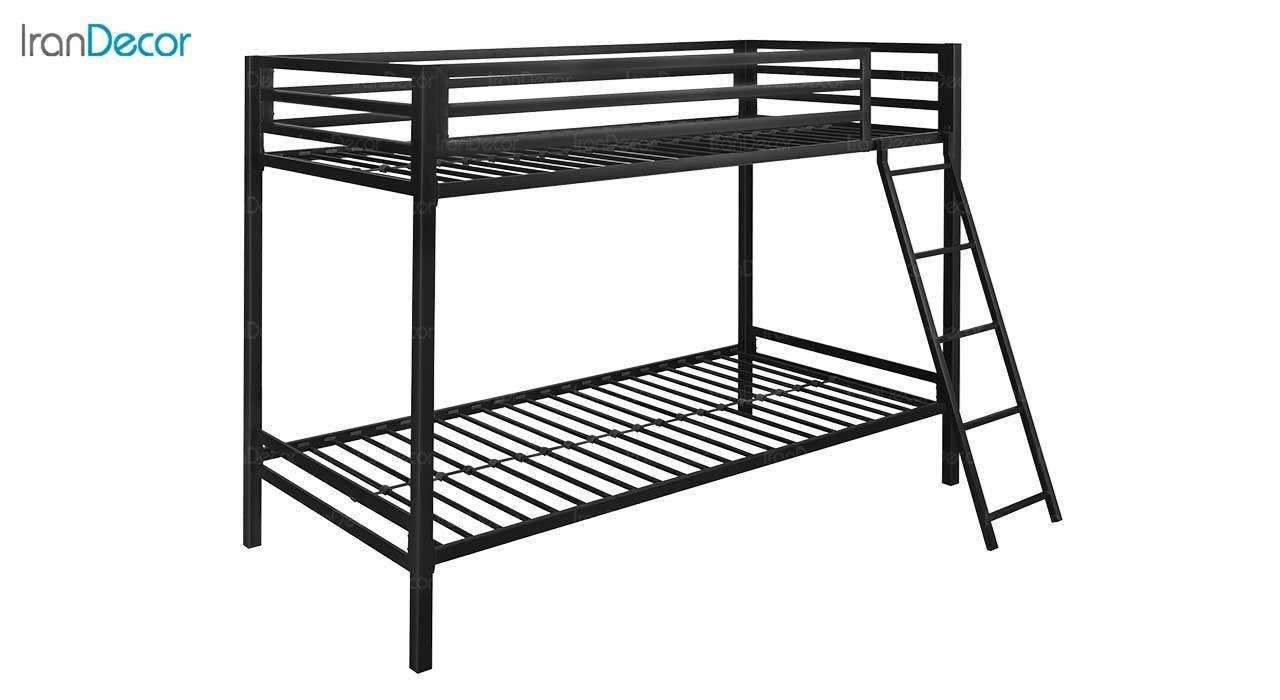 تصویر تخت خواب دو طبقه فلزی دورمی مدل  لانگ