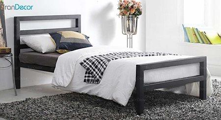 تصویر تخت خواب یک نفره فلزی مدل سیتی