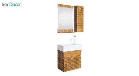 تصویر ست روشویی دیواری طرح چوب مدل آندره