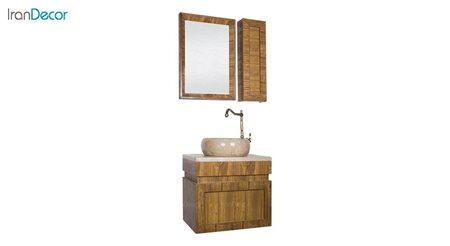 تصویر ست روشویی دیواری طرح چوب مدل استیر