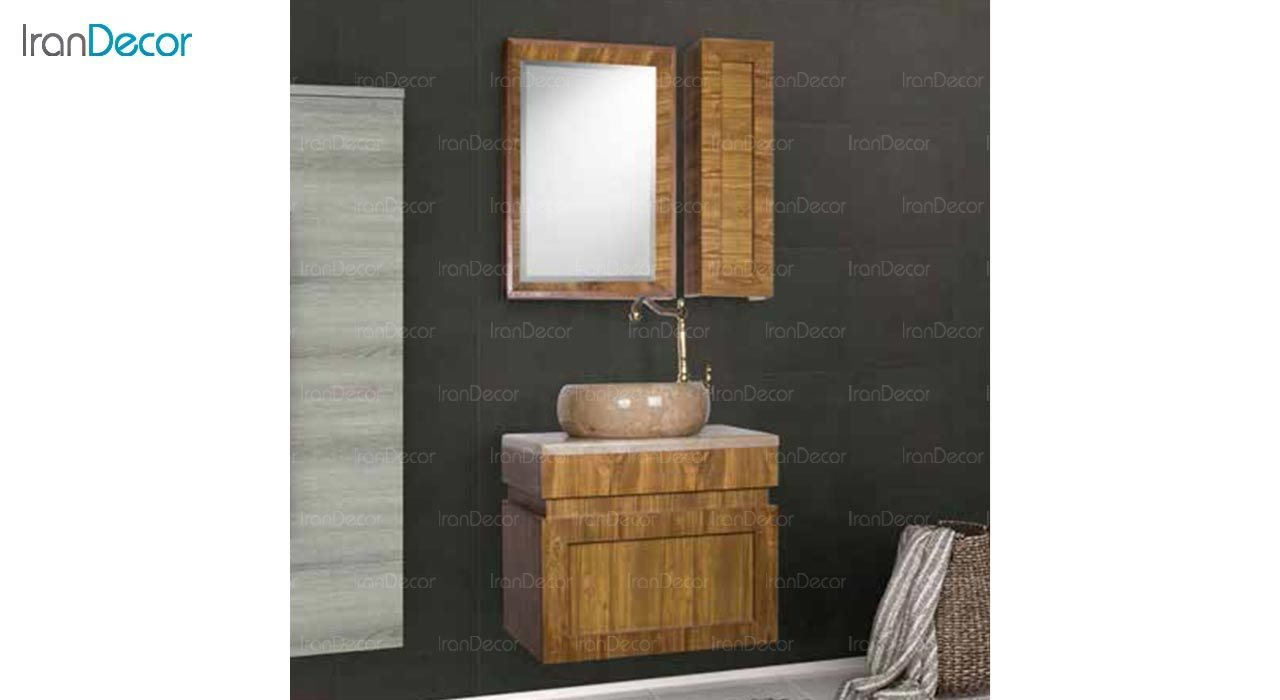 عکس ست روشویی دیواری طرح چوب مدل استیر