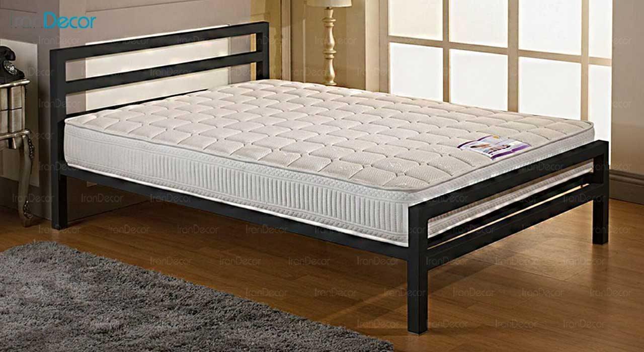 تصویر تخت خواب دو نفره فلزی مدل سیتی