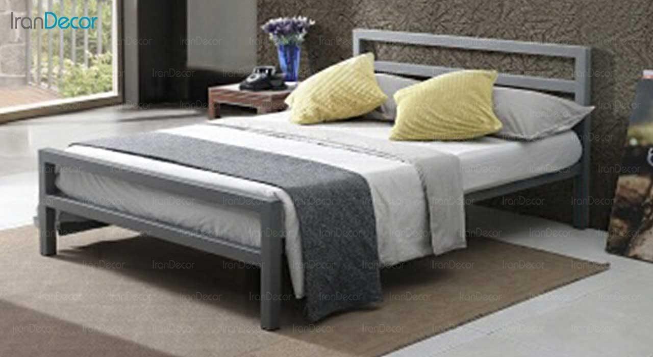 عکس تخت خواب دو نفره فلزی مدل سیتی