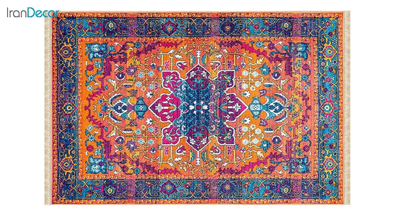 تصویر فرش ماشینی کرامتیان طرح وینتیج مدل PT59131-11