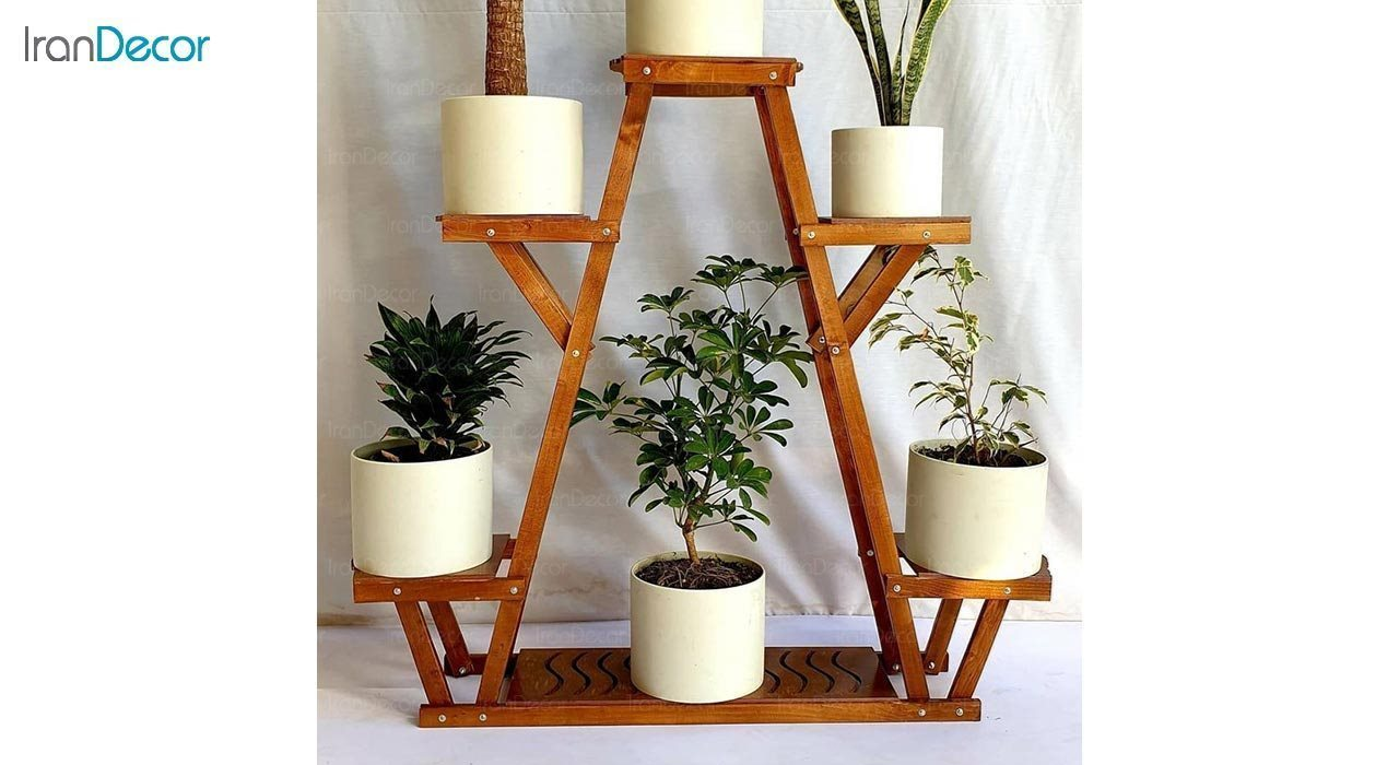 عکس استند گل و گیاه چوبی مدل W71