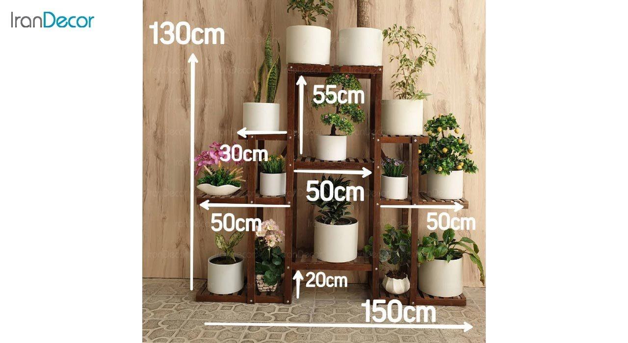 تصویر استند گل و گیاه چوبی مدل W50
