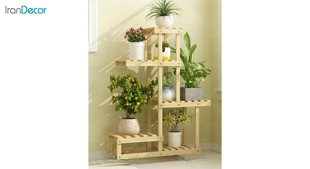 عکس استند گل و گیاه چوبی مدل W55