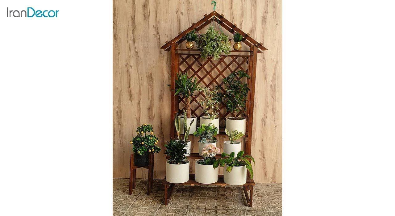عکس استند گل و گیاه چوبی مدل W32