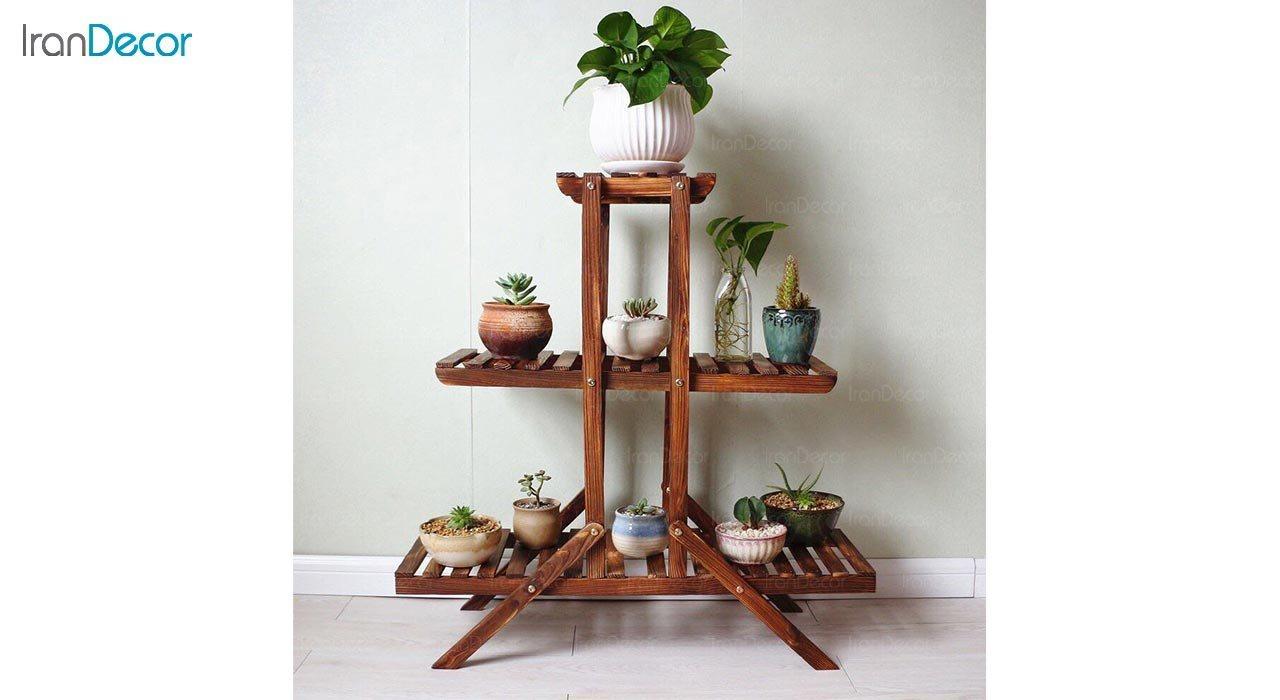 عکس استند گل و گیاه چوبی مدل W23