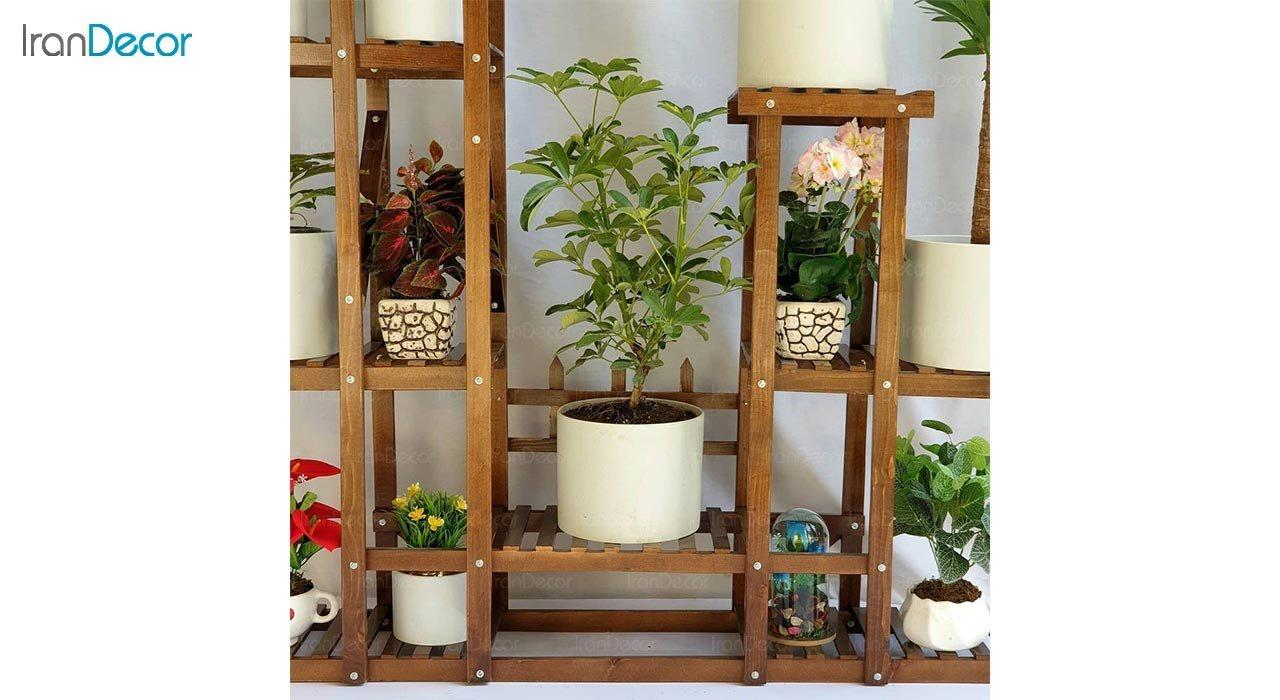تصویر استند گل و گیاه چوبی مدل W22