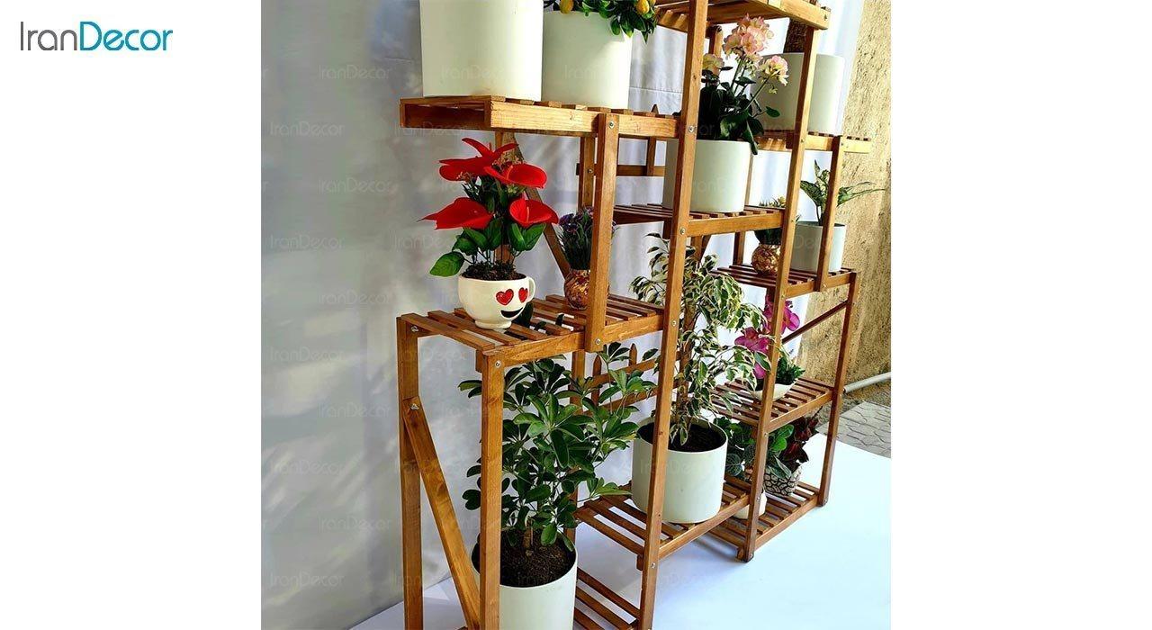 عکس استند گل و گیاه چوبی مدل W6