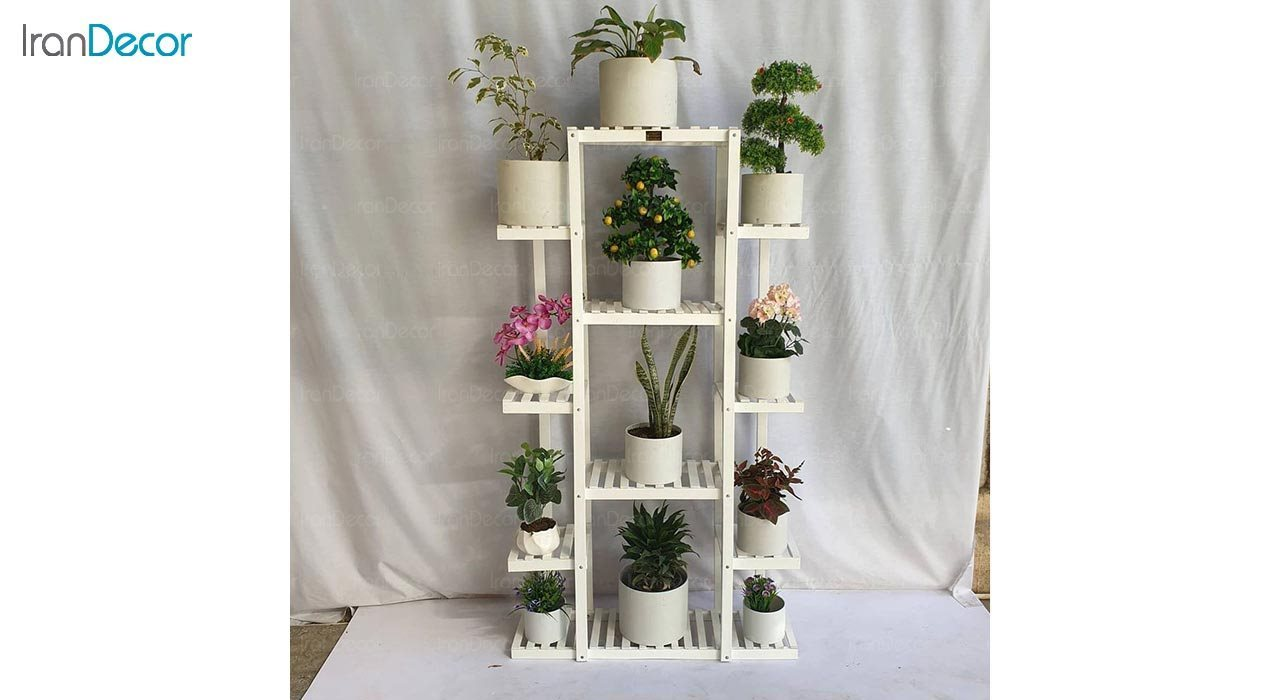 تصویر استند گل و گیاه چوبی مدل W53