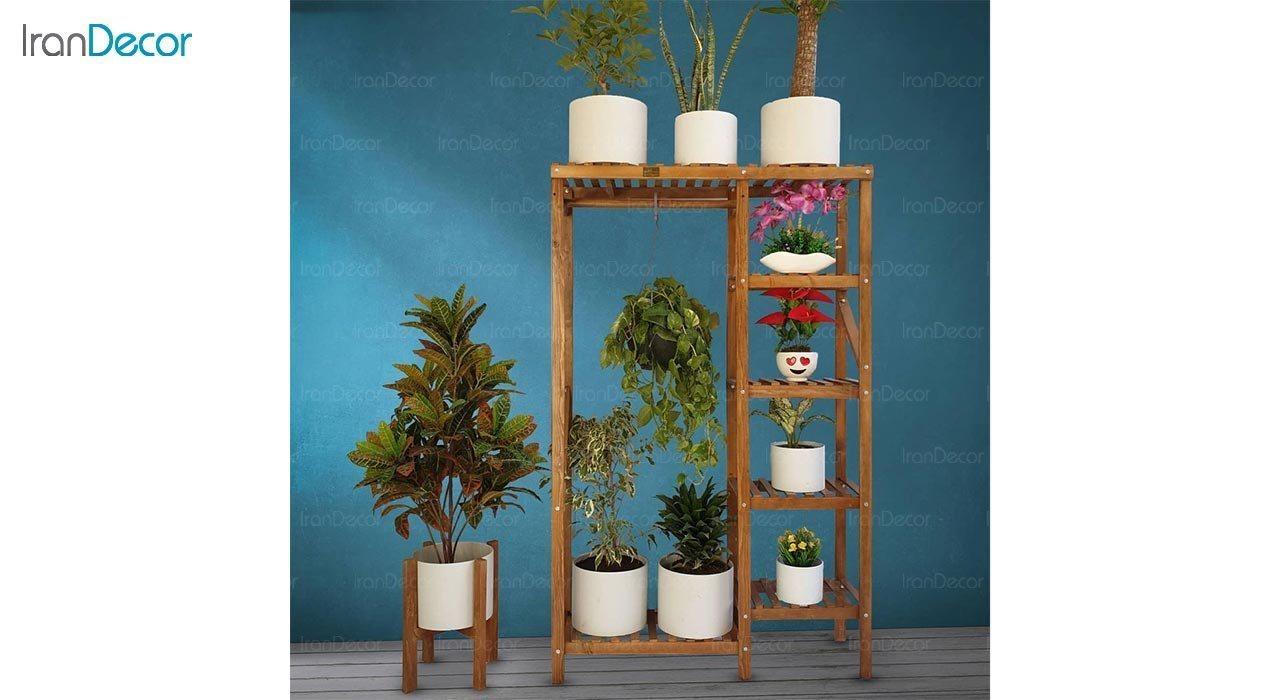 عکس استند گل و گیاه چوبی مدل W39