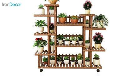 تصویر استند گل و گیاه چوبی مدل W17