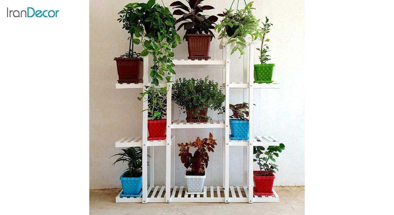 تصویر استند گل و گیاه چوبی مدل W64