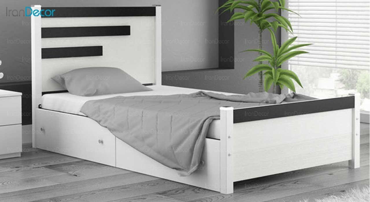 تصویر و قیمت تخت خواب یک نفره ماد مدل کارنو