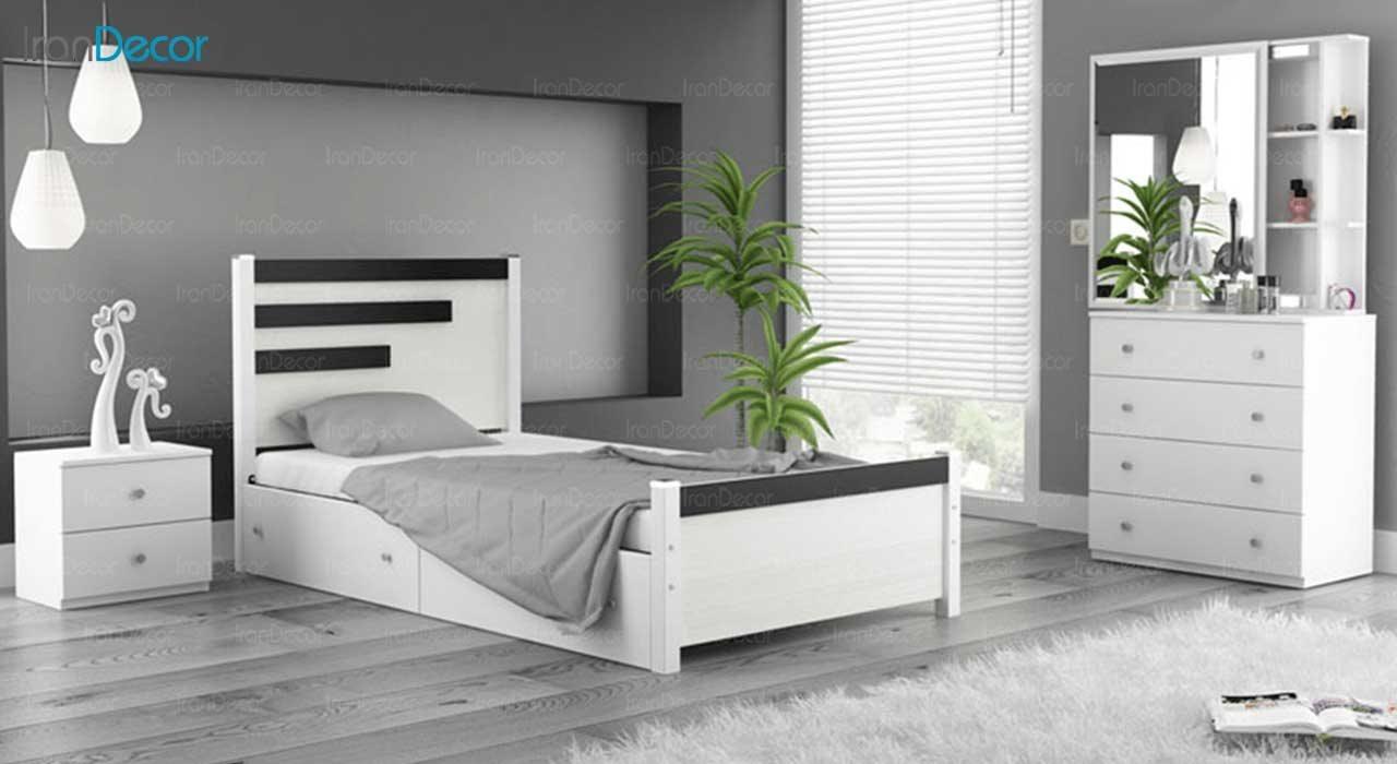 عکس و قیمت چیدمان تخت خواب یک نفره ماد مدل کارنو