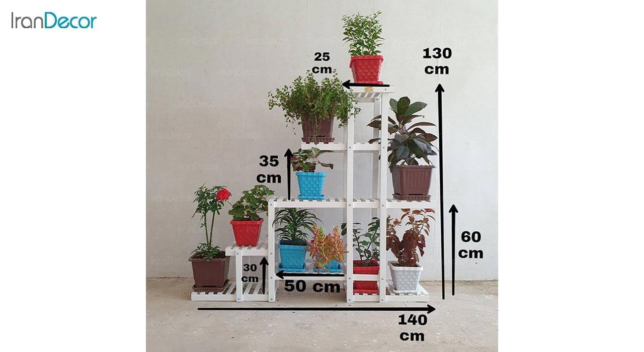 تصویر استند گل و گیاه چوبی مدل W65