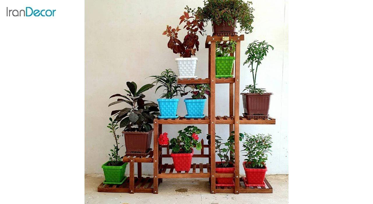 عکس استند گل و گیاه چوبی مدل W65