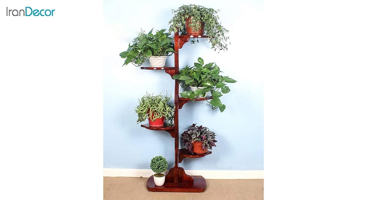 تصویر استند گل و گیاه چوبی مدل W52